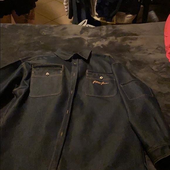 Vintage phat farm darkwash denim Jacket